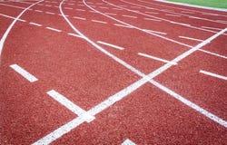Athletische Bahn Stockbild