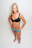 Athletische blonde Frau Stockfoto