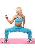 Athletische Frau in der Gymnastik Stockfotografie