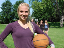 Athletische Frauen Stockfoto