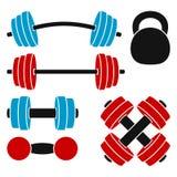 Athletische Gewichte Stockfotografie