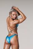 Athletische junge Frau Stockfotografie