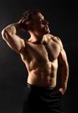 Athletische mit Muskeln Karosserie Lizenzfreies Stockbild