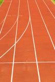 athletische Spur, Athletikhintergrund Stockfotos