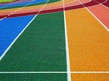 Athletische Spur-Markierungen Lizenzfreie Stockbilder