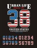 Athletische Vereinigte Staaten lizenzfreie abbildung