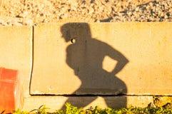 Athletischer Frau ` s Schatten lizenzfreie stockfotos