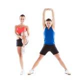 Athletischer Mann und Frau Stockfoto