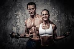 Athletischer Mann und Frau Lizenzfreie Stockfotografie