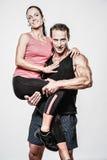 Athletischer Mann und Frau Lizenzfreie Stockbilder