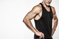 Athletischer Mann von mittlerem Alter Stockfotografie