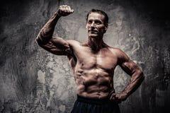 Athletischer Mann von mittlerem Alter Stockbilder