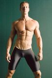 Athletischer muskulöser Mann Stockfotografie