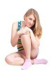 Athletisches blondes Mädchen Lizenzfreie Stockfotos