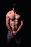 Athletisches Mann-Eignungs-Modell Stockbilder