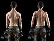 Athletisches Mann-Trainieren Lizenzfreies Stockfoto