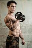 Athletisches Mann-Trainieren stockbild