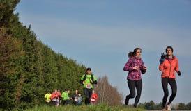 Athletisme, бегуны в природе Стоковые Фото
