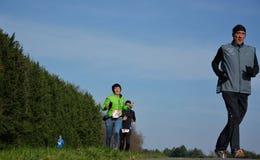 Athletisme, бегуны в природе Стоковая Фотография