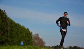 Athletisme, бегуны в природе Стоковое Изображение RF
