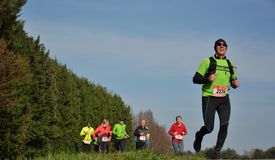 Athletisme, corredores na natureza Imagem de Stock Royalty Free
