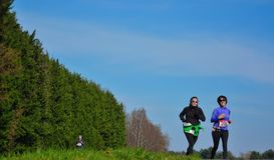 Athletisme, corredores na natureza Fotografia de Stock