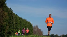 Athletisme , runners in nature Royalty Free Stock Photo