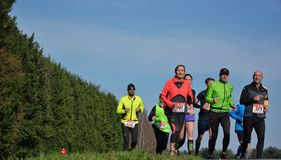 Athletisme , runners in nature Royalty Free Stock Photography