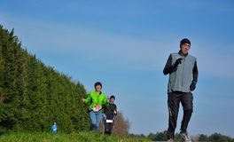 Athletisme , runners in nature Royalty Free Stock Image