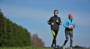 Athletisme , runners in nature Royalty Free Stock Images