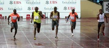 Athletissima 2009 Bolt Stock Image