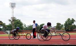 Athlets handicapés Photographie stock libre de droits