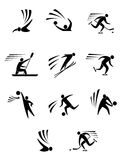 Athlets and players. For different sports elements or design Stock Images