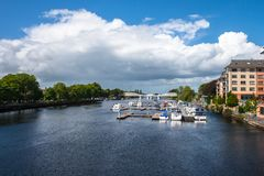 Athlone city and Shannon river in summer, Ireland. Athlone town and Shannon river in summer, county Westmeath, Ireland Stock Photography