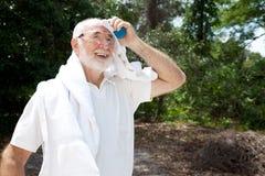 Athlète aîné en sueur Image stock