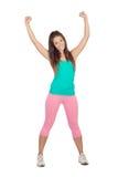 Athlète féminin faisant la forme physique Photo stock