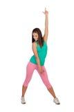 Athlète féminin faisant la forme physique Images stock
