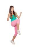Athlète féminin faisant la forme physique Image libre de droits