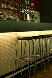 Athmospheric bar. Empty bar waiting for the first costumers stock photography