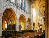 Сatholic church of Saint Germain of Auxerre in Paris, France. Stock Photography