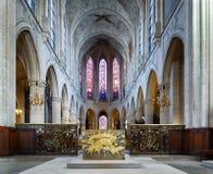 Atholic kyrka för Ð-¡ av St Germain av Auxerre i Paris, Frankrike Arkivbild