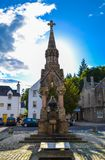Atholl Memorial Fountain at the market place in Dunkeld, Perth a. Nd Kinross, Scotland United Kingdom royalty free stock photos