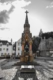 Atholl Memorial Fountain at the market place in Dunkeld, Perth a. Nd Kinross, Scotland United Kingdom Stock Photography