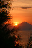 Athon soluppgång Arkivbild