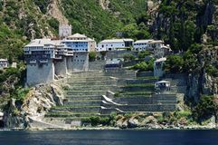 Athos-Halbinsel, Griechenland Stockfotos