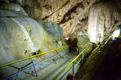 Athos karst cave Stock Image