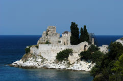 athos kyrktar greece saintvasilije Arkivbild