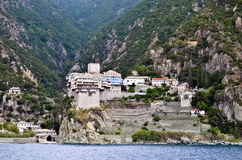Athos monastery Royalty Free Stock Photo