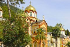 Athos Monastery novo imagens de stock royalty free
