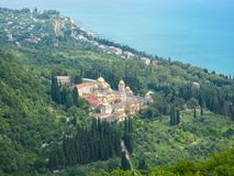 Athos Monastery novo na república da Abkhásia imagens de stock royalty free
